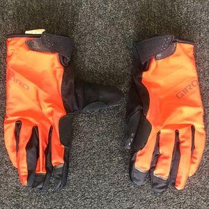 Giro Orange/Black Full Fingered Cycling Gloves XL